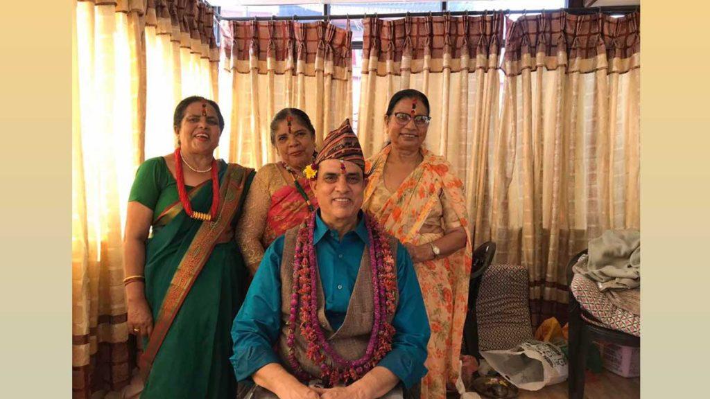 Hari Bansha Acharya with his sisters