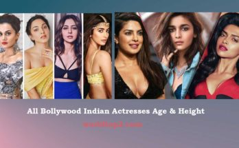Bollywood Indian Actresses real age and height