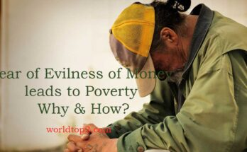 Fear of Evilness of Money leads to Poverty