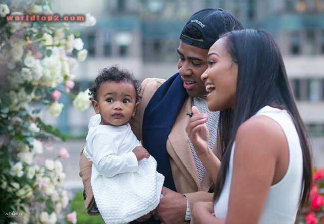 Prettyboyfredo with his wife and daughter