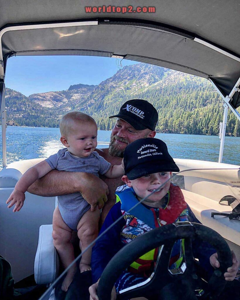 Burt Jenner with his two sons