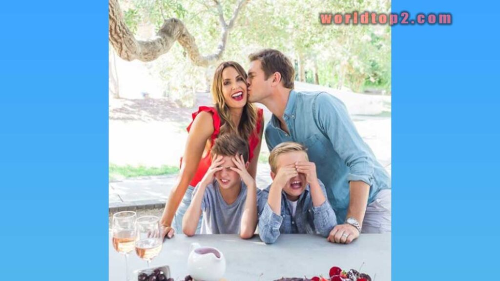 Danielle Kirlin with her two sons and husband