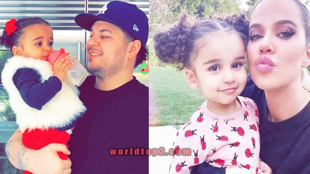 Dream Renée Kardashian with her father and mother