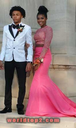 Cornell Haynes III with his girlfriend during high school prom