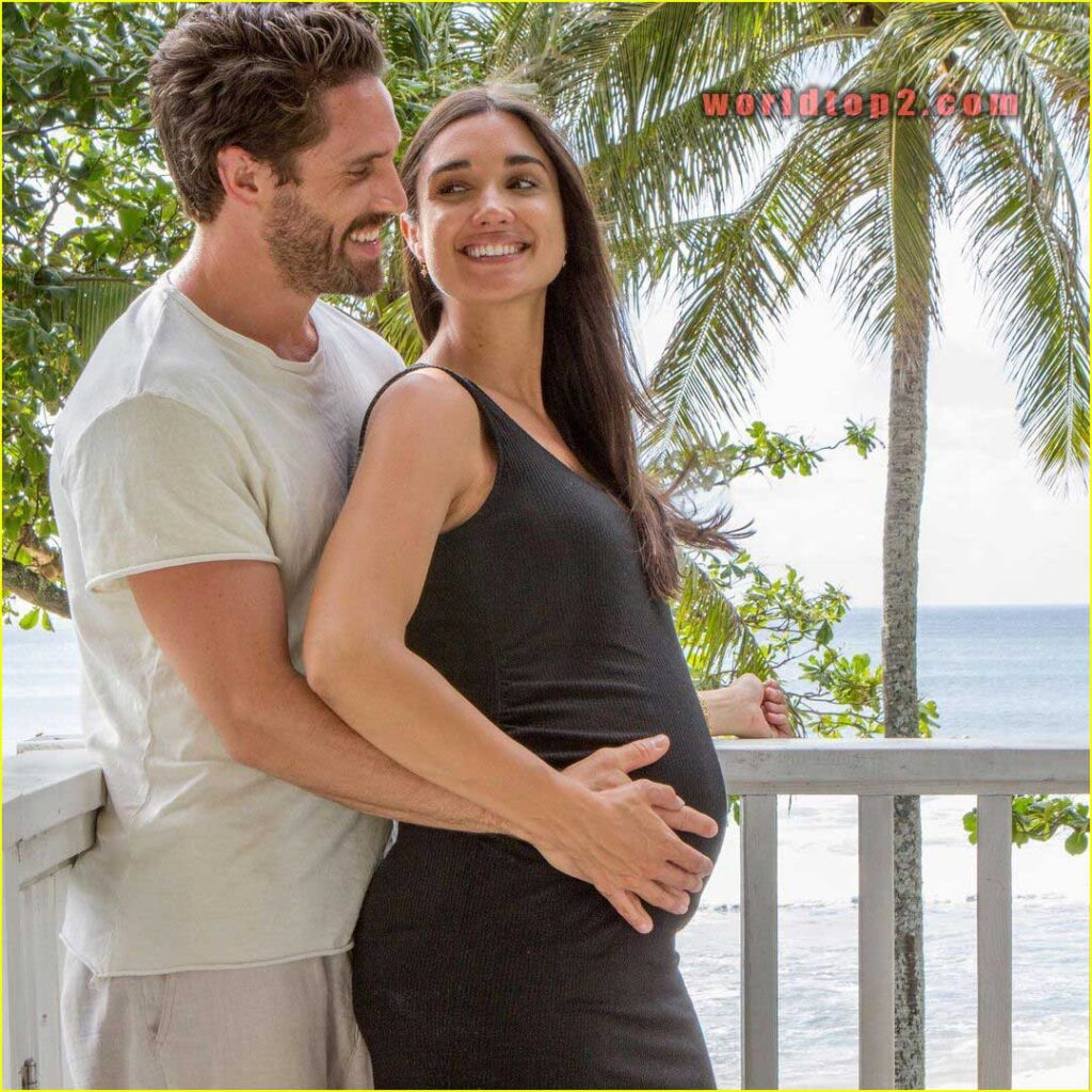 James O'Halloran with his pregnant wife