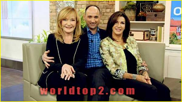 krista visentin with her husband and Hilary Farr
