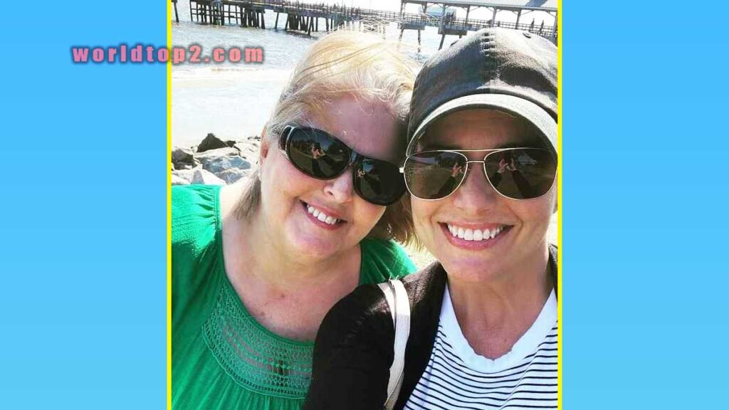 Melissa Ashworth with her mother