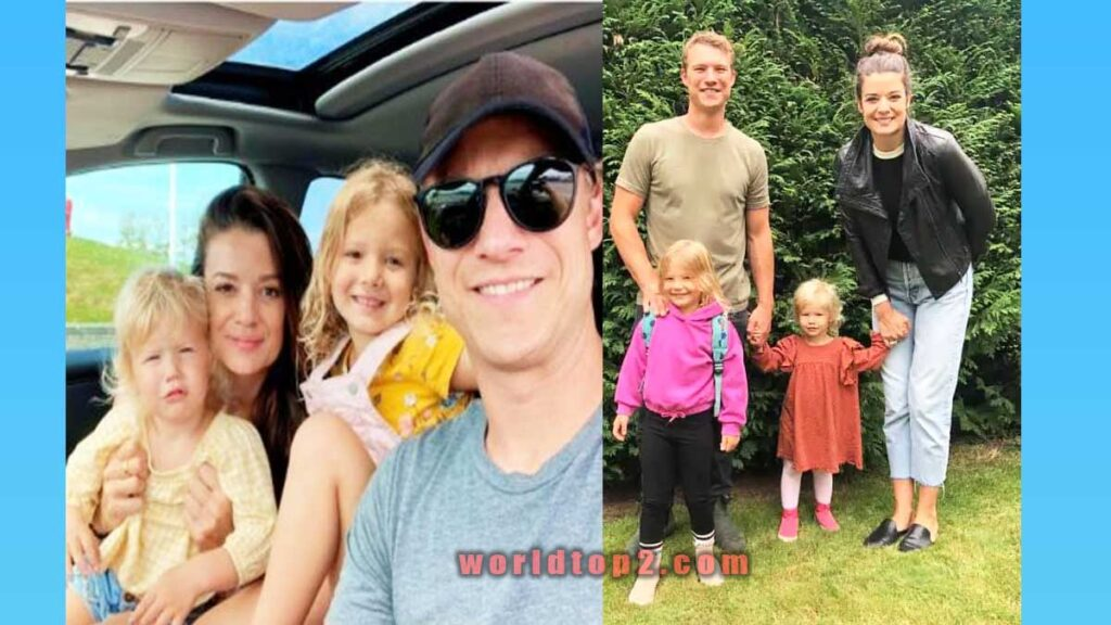 Scot Sustad with his wife and children